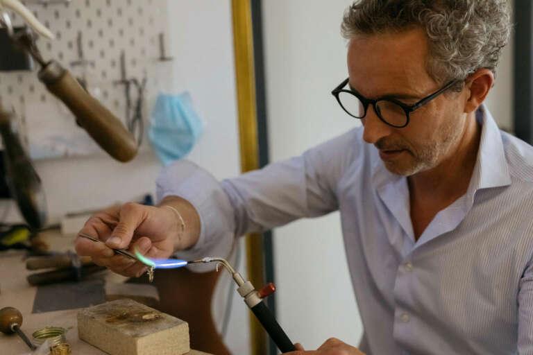 Marco David in der Werkstatt © Kirstin Tödtling